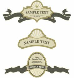 banner and labels vector image vector image