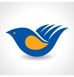Creative Idea - Hand make a bird icon stock vector image