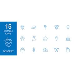 15 dessert icons vector