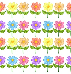A floral seamless design vector image