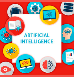 Artificial intelligence template vector