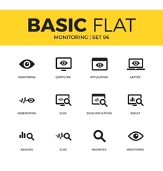 Basic set of Monitoring icons vector image