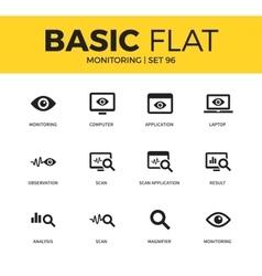 Basic set of Monitoring icons vector