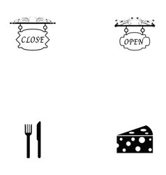burger icon set vector image