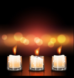 Candles in glasses vector