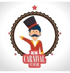 Circus carnival funfair vector