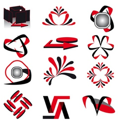 collection of symbols for design vector illustrati vector image