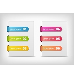 Colorful stickers with arrows and numbers vector