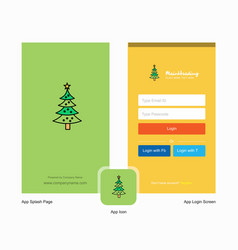 Company christmas calendar splash screen and vector
