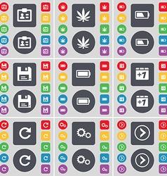 Contact Marijuana Battery Floppy Battery Plus one vector image