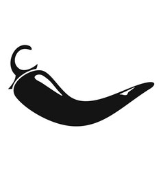 culinary chili pepper icon simple style vector image