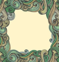 Curled frame vector