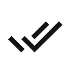 double tick indicator icon vector image