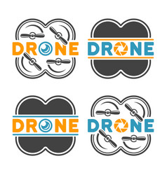 drones and quadrocopters colored design elements vector image