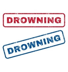 Drowning Rubber Stamps vector