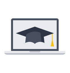 e-learning or online education vector image