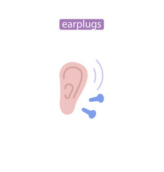 ear plugs vector image