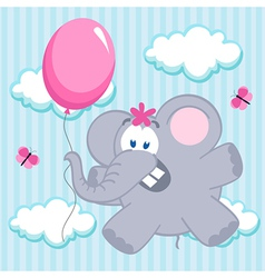 elephant on balloon vector image