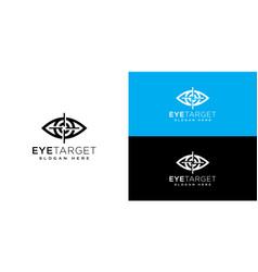 eye target logo design template vector image