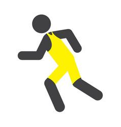 Flat color run icon vector