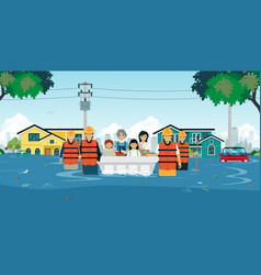 Flood rescue vector