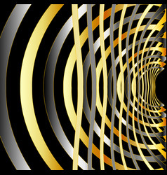 Fractal background with metal vector
