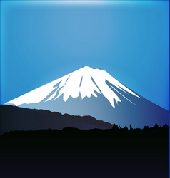 fuji mountain background vector image