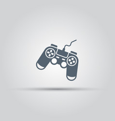 Game controller or gamepad isolated icon vector