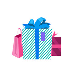 gifts in box and packages vector image