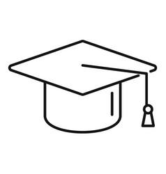 Grad school hat icon outline college vector