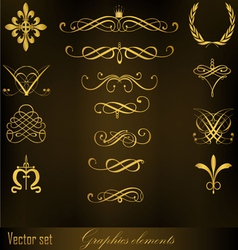 Graphics elements vector image