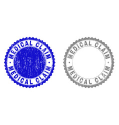 Grunge medical claim scratched watermarks vector