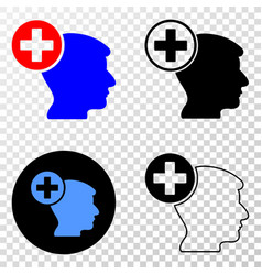 head medicine eps icon with contour version vector image