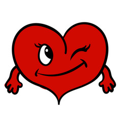 heart with hands on white background vector image
