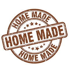 Home made brown grunge round vintage rubber stamp vector