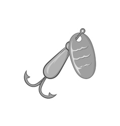 Hook for catching fish icon monochrome style vector