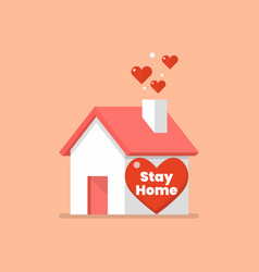house icon with word stay home vector image