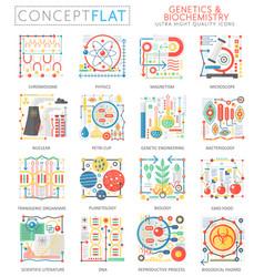 infographics mini concept genetics biochemistry vector image