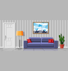 interior modern living room vector image