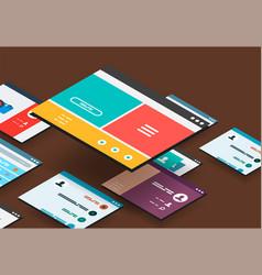 Isometric app concept vector