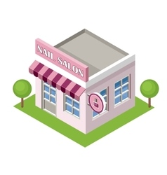 Isometric nail salon on the white background vector image