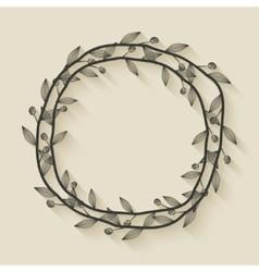 Laurel award wreath vector