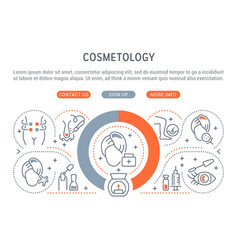 linear banner cosmetology vector image