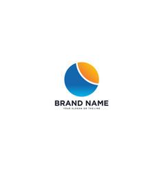 Logo design sun and river vector