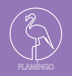 logo flamingo line icon vector image