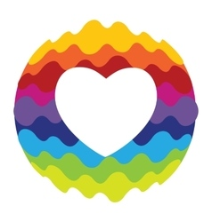 Love Heart Rainbow Color Icon for Mobile vector