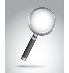 Magnifying glass over gray background vector