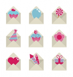 mail party icons vector image