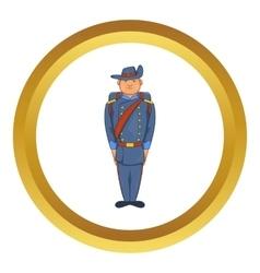 Man in army uniform 19th century icon vector
