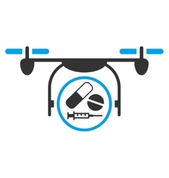 Medication Quadcopter Icon vector